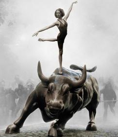 ballerina a Wall Street